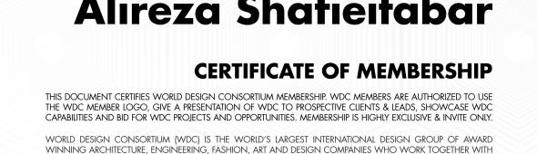 WDC Membership Certificate